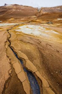 Iceland, Norourland eystra, Hverarond field and Namafjallの写真素材 [FYI02706389]