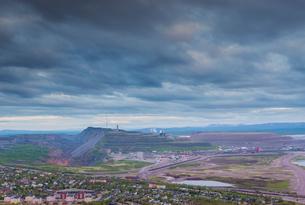 Sweden, Lapland, Kiruna, Landscape with iron ore mineの写真素材 [FYI02706404]