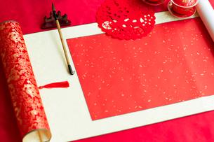 Traditional Chinese wedding elementsの写真素材 [FYI02706510]
