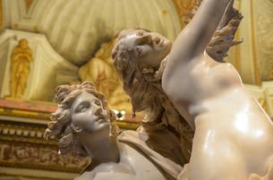 Apollo and Daphne, Gian Lorenzo Bernini, marble statue in the Galleria Borghese, Rome, Italy.の写真素材 [FYI02706559]