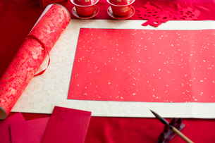 Traditional Chinese wedding elementsの写真素材 [FYI02706613]