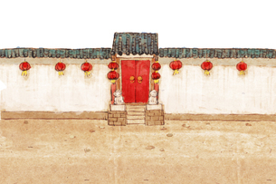 Traditional Chinese courtyard and alleyのイラスト素材 [FYI02706705]