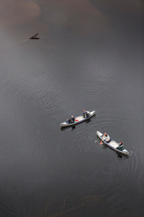 People rowing in Vasterbotten, Swedenの写真素材 [FYI02706706]