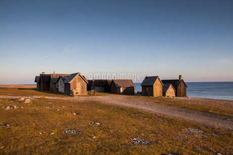 Old fishermans huts in Swedenの写真素材 [FYI02706718]