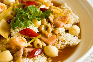Chinese cuisine spicy crispy riceの写真素材 [FYI02706731]