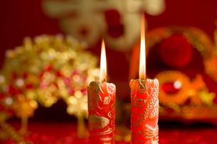Traditional Chinese wedding elementsの写真素材 [FYI02706788]