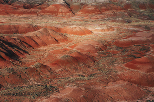 View of the Painted Desert/Petrified Forest National Parkの写真素材 [FYI02706824]
