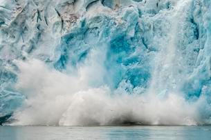 Ice calving, Monacobreen or Monaco Glacier, Liefdefjordenの写真素材 [FYI02706959]