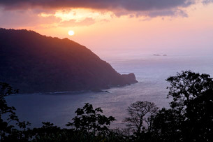 Sunset at Flagstaff Hill lookout, Man O'War Bayの写真素材 [FYI02707004]