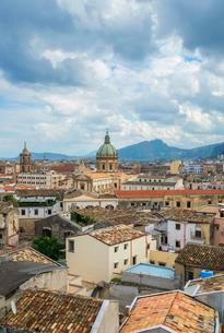 Cityscape, Palermo, Sicily, Italy, Europeの写真素材 [FYI02707020]