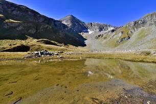 Nassfeld reservoir, behind Sinwelleck, High Tauern Nationalの写真素材 [FYI02707024]