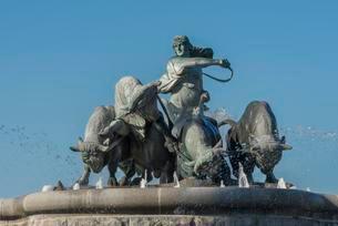 Gefion Fountain, sculpture, Germanic mythology, Copenhagenの写真素材 [FYI02707071]