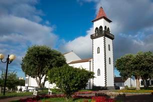 Church, Salga, Sao Miguel, Azores, Portugal, Europeの写真素材 [FYI02707077]