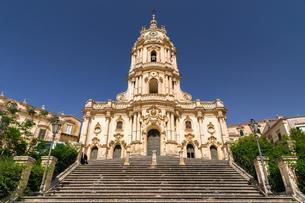 Freitreppe, Cathedral Duomo di San Giorgio, Baroqueの写真素材 [FYI02707089]