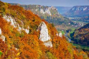 Werenwag Castle, Upper Danube Nature Park, Swabian Juraの写真素材 [FYI02707130]