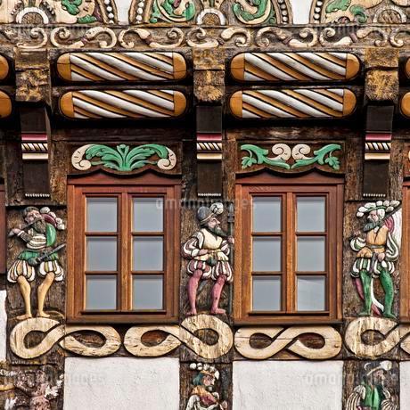Half-timbered house, Haus Horstkotte, Weser Renaissanceの写真素材 [FYI02707146]