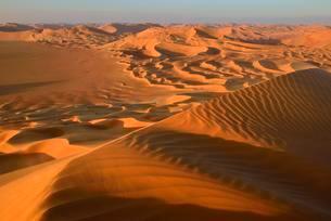 Sanddunes in the Rub al Khali desert, Dhofar, Oman, Asiaの写真素材 [FYI02707148]