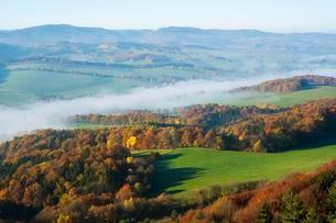 View from Great Horselberg towards the Thuringian Forestの写真素材 [FYI02707178]