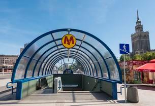 Entrance to the Metro, Metro Warszawskie, Warsaw, Mazoviaの写真素材 [FYI02707182]