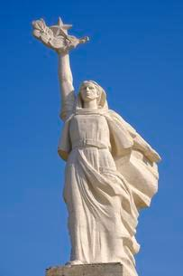 Monument to Mother Albania at the Martyrs' Cemetery, inの写真素材 [FYI02707195]