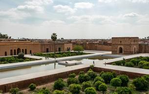 Old dilapidated palace, El Badii Palace, Marrakechの写真素材 [FYI02707255]