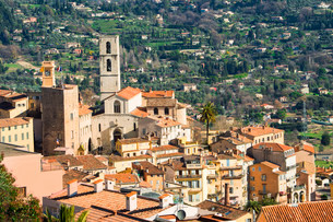 The historic centre of Grasse and the Cathedral Notre-Dameの写真素材 [FYI02707269]