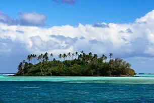 Muri Beach Lagoon, Rarotonga, South Pacific, Cook Islandsの写真素材 [FYI02707311]