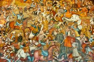 Fresco, battle, battle of Nadir Shah in the Battle ofの写真素材 [FYI02707326]