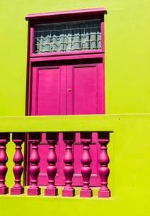 Colourful house, Bo-Kaap, Cape Town, Western Cape, Southの写真素材 [FYI02707335]