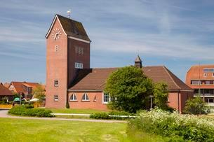 Protestant Island Church, Baltrum, East Frisian Islandsの写真素材 [FYI02707362]