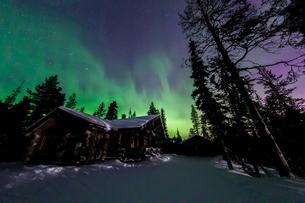 aurora in  Finlandの写真素材 [FYI02707372]