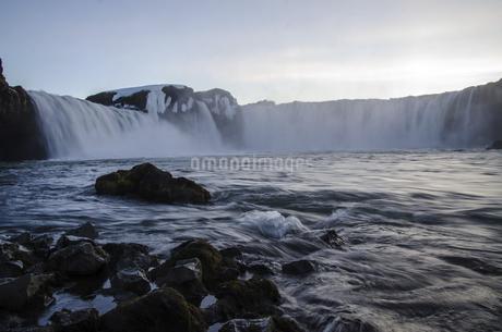 waterfall,goafoss,Icelandの写真素材 [FYI02707397]