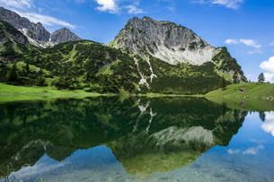 Rubihorn, Geisalptal, Allgau Alps, Unterer Gaisalpseeの写真素材 [FYI02707431]