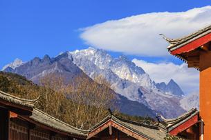Shuhe Ancient Town, Lijiang, Yunnan,Chinaの写真素材 [FYI02707432]
