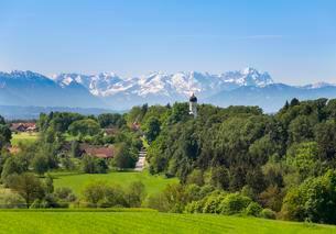 Holzhausen, Lake Starnberg, Munsing, Wetterstein andの写真素材 [FYI02707450]