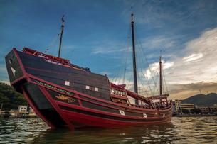 Dongping fishing port,Yangjiang, Guangdong, Chinaの写真素材 [FYI02707522]