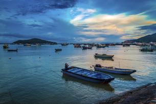 Dongping fishing port,Yangjiang, Guangdong, Chinaの写真素材 [FYI02707560]