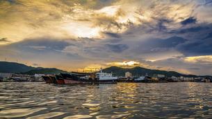 Dongping fishing port,Yangjiang, Guangdong, Chinaの写真素材 [FYI02707589]