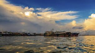 Dongping fishing port,Yangjiang, Guangdong, Chinaの写真素材 [FYI02707606]