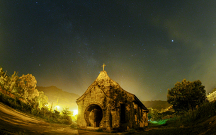night view of TUBA church;Taoyuan;Taiwanの写真素材 [FYI02707645]