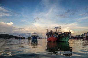 Dongping fishing port,Yangjiang, Guangdong, Chinaの写真素材 [FYI02707651]