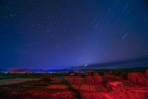 Milky way of starry night in the Town Huzhong; Da Hinggan Lingの写真素材 [FYI02707684]