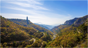 Autumn color of Xiantang Mountain,Chinaの写真素材 [FYI02707704]