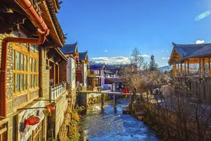 Shuhe Ancient Town, Lijiang, Yunnan,Chinaの写真素材 [FYI02707724]
