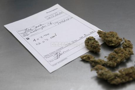 Medical marijuana prescription and budsの写真素材 [FYI02708155]