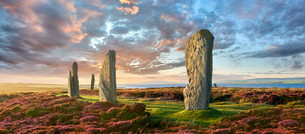 The Ring of Brodgar, circa 2,500 BC, Neolithic henge andの写真素材 [FYI02708513]