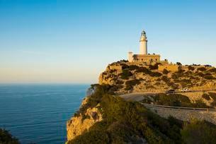 Lighthouse, Cap Formentor, Port de Pollenca, Serra deの写真素材 [FYI02708514]