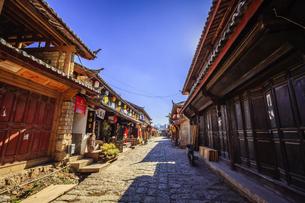 Shuhe Ancient Town, Lijiang, Yunnan,Chinaの写真素材 [FYI02708687]
