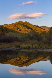 The Mirror Reflection of mountain; sky and cloud. Lesser Khingan; Yichun; Heilongjiang; Chinaの写真素材 [FYI02708809]