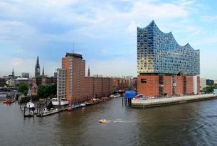 Elbphilharmonie, concert hall, Hamburg, Germany, Europeの写真素材 [FYI02708954]